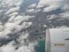 desde el avión, despegue de Barcelona