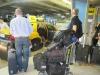Esperando un taxi en el aeropuerto de Miami