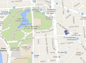 ubicación Avenida Sarmiento, Montevideo, Uruguay