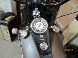 moto harley en el taller de motos, Montevideo, Uruguay