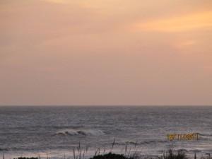 relajante atardecer en la playa de La Paloma, Uruguay