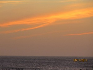 atardecer en la playa de La Paloma, Uruguay