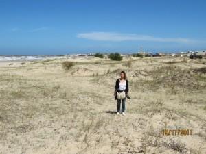 en la ruta con la Harley en Cabo Polonio, Uruguay