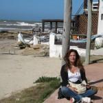 en la ruta con la moto, en Cabo Polonio, Uruguay