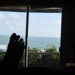 Desde la ventana de la cabaña en Punta del Diablo, Uruguay
