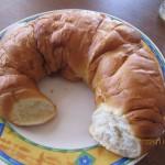 Croissant gigante para desayunar, esto es un cruasant