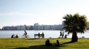 La paz que transmite la Rambla de Montevideo, Uruguay