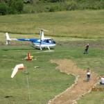Elicoptero preparado para el paseo