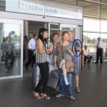 En el aeropuerto de Montevideo