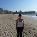 Camiando por la playa de Montevideo