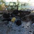 Tortas fritas en el río Atuel